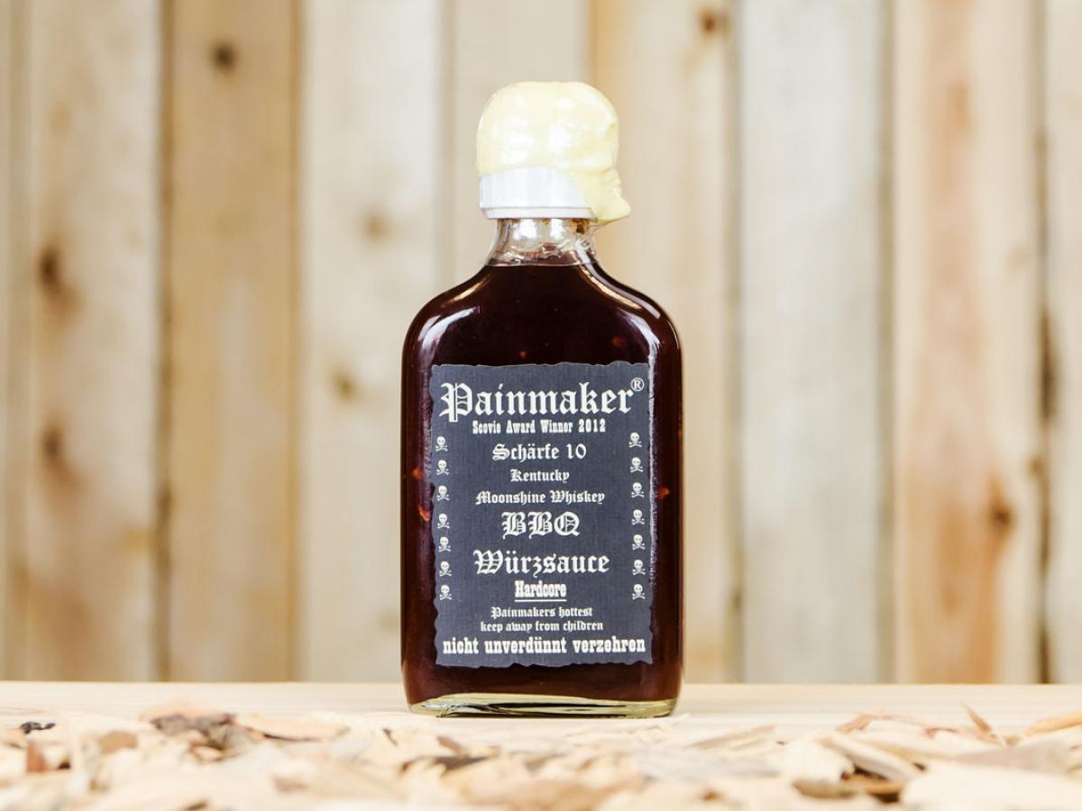 bbq sauce grillso e kentucky moonshine whiskey hardcore 200ml von painmaker. Black Bedroom Furniture Sets. Home Design Ideas